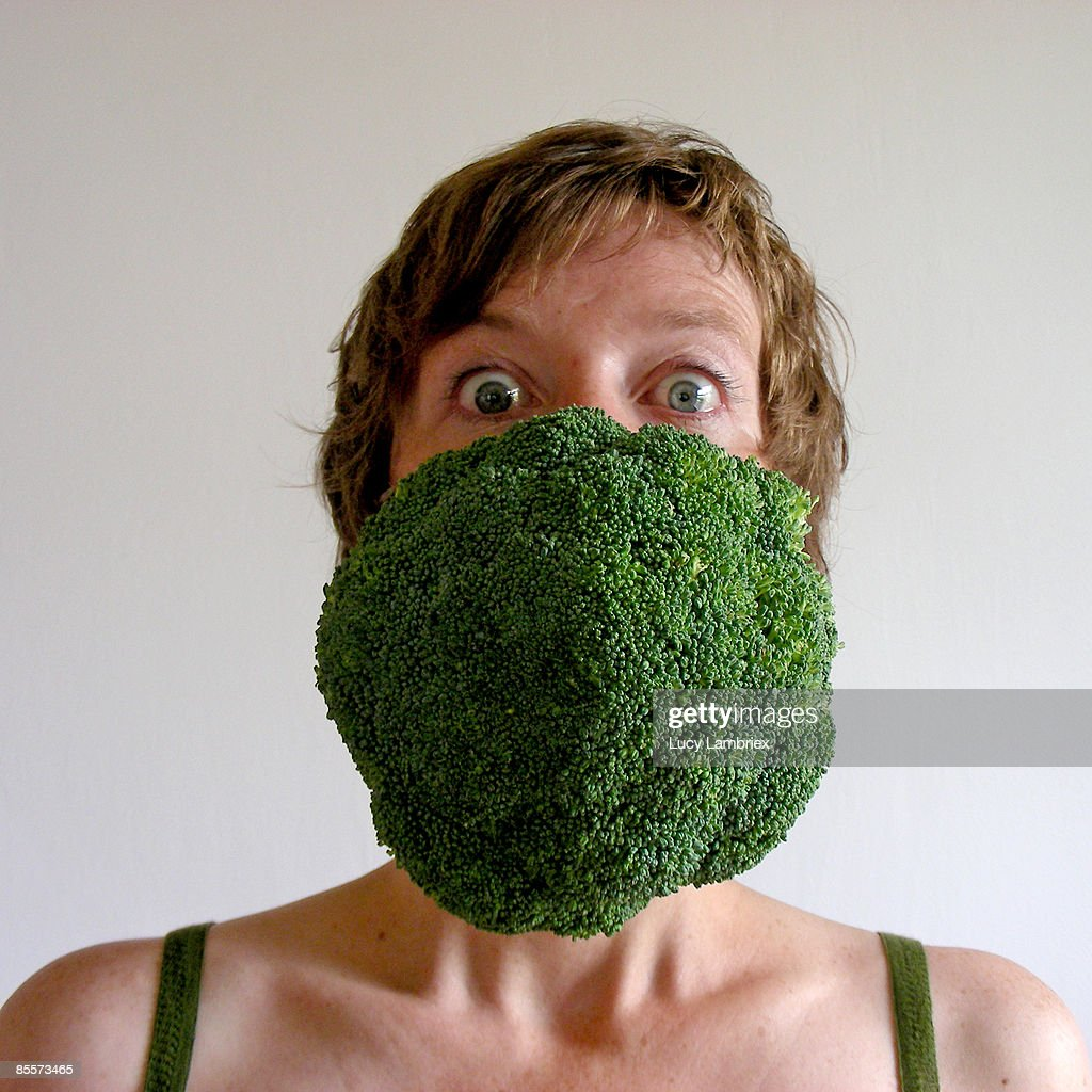 The broccoli lady : Stockfoto
