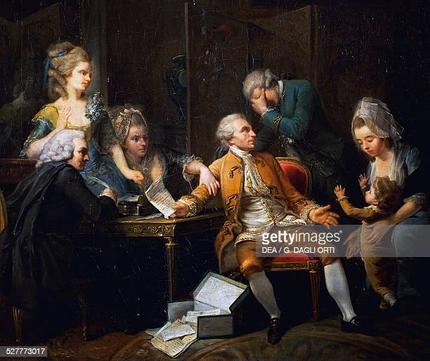 The broken contract painting by Jeaurat Etienne France 18th century