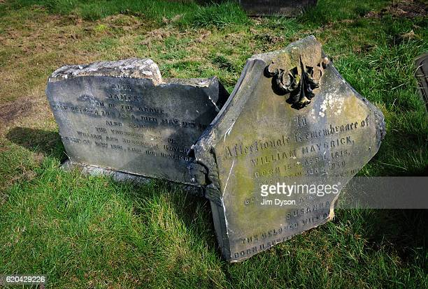 The broken grave of Jack The Ripper suspect James Maybrick at Anfield Cemetery on March 19 2011 in Liverpool England Dead Famous London is a journey...