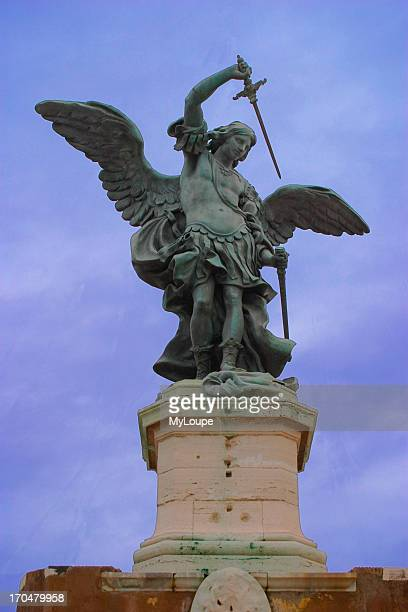 The bronze casting of the Archangel Michael from the top of Castel Sant'Angelo Rome