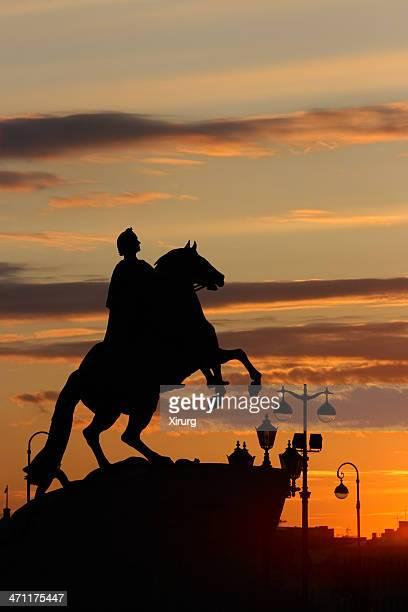 The Bronze Horseman Silhouette  (St. Petersburg, Russia)