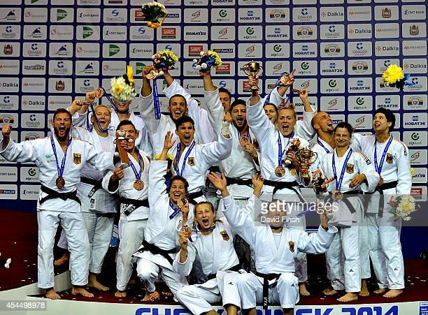 The bronze medal winning German Men and Women's teams Rene Schneider Sebastian Seidl Christopher Voelk Sven Maresch Marc Odenthal Dimitri Peters...