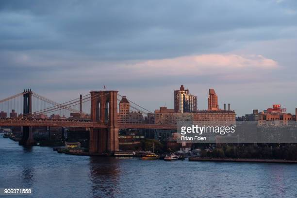 The Brooklyn and Manhattan Bridges in New York City