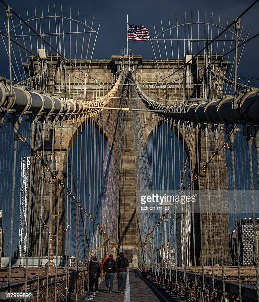 CONTENT] the brooklyn bridge on a winter sunny day Manhattan NewYork City