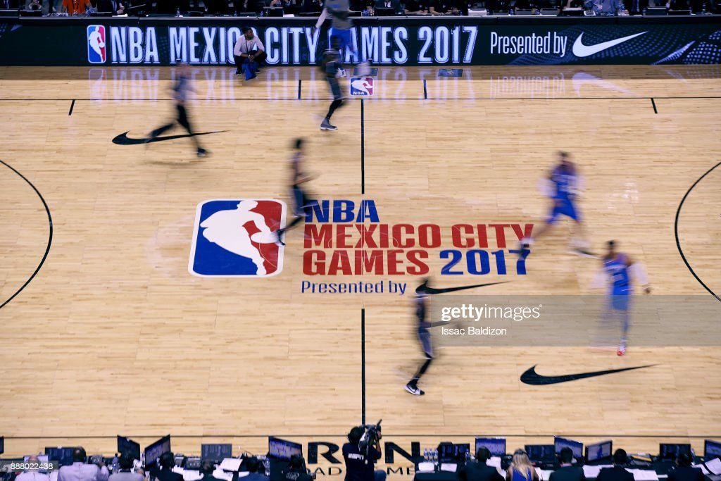 The Brooklyn Nets and the Oklahoma City Thunder play as part of the NBA Mexico Games 2017 on December 7, 2017 at the Arena Ciudad de México in Mexico City, Mexico.