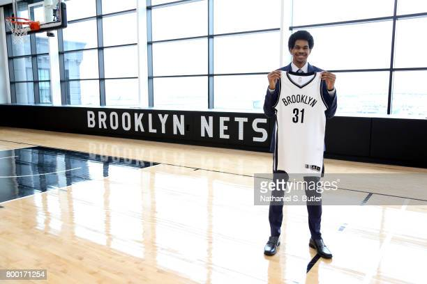 The Brooklyn Nets introduce 2017 draft pick Jarrett Allen on June 23 2017 at HSS Training Center in Brooklyn New York NOTE TO USER User expressly...