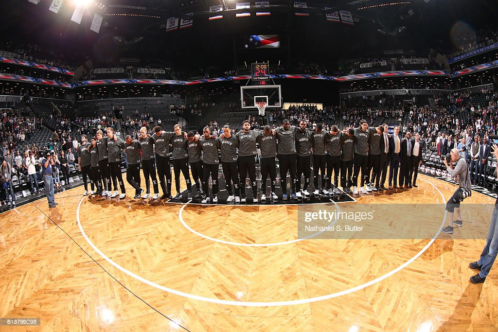 Image result for brooklyn nets standing for national anthem