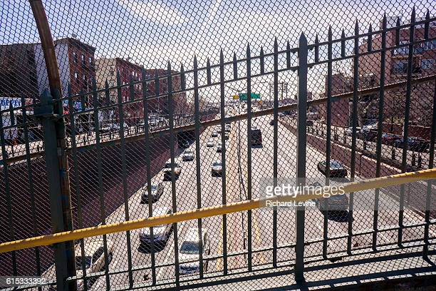 The Brooklyn Queens Expressway in New York seen from an overpass on Saturday March 12 2016