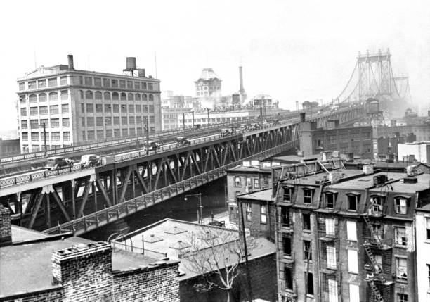 The Brooklyn side of the Manhattan Bridge.