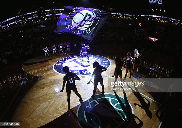 The Brooklynettes entertain the crowd prior to the game between the Brooklyn Nets and the Chicago Bulls at the Barclays Center on April 4, 2013 in...