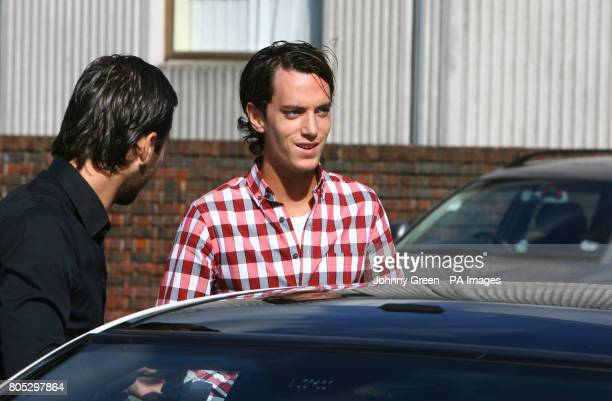 The brother of Jack Tweed, Lewis and friend Mark Wright, arrive at Redbridge Magistrates Court in Redbridge, north-east London, where Jack Tweed, the...