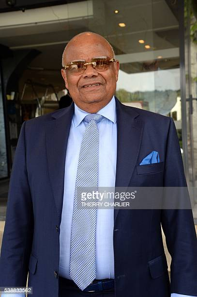 The brother of Moise Katumbi the former Governor of Katanga the businessman Raphael Katebe Katoto leaves the opening session of the meeting of the...