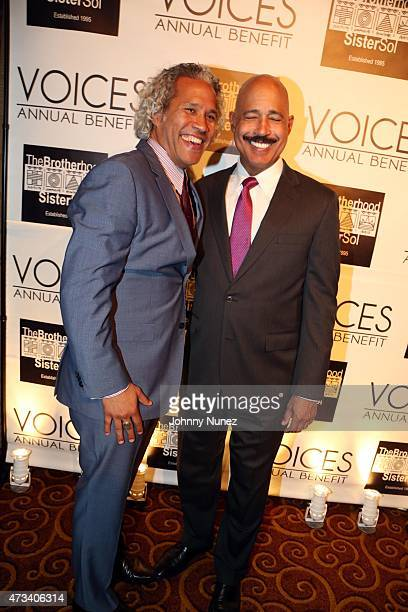 The Brotherhood/Sister Sol Executive Director CoFounder Khary LazarreWhite and attorney Ted Wells attend the 2015 Brotherhood/Sister Sol's Voices...