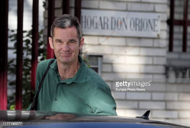 The brotherinlaw of the king Felipe of Spain Inaki Urdangarin is seen arriving at 'Fundacion Hogar Don Orione' on September 26 2019 in Pozuelo de...