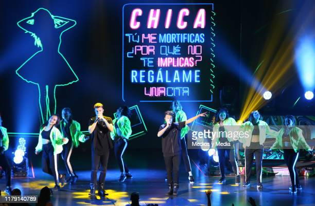 The brothers Adexe Nau perform during a concert at Auditorio Pabellón on October 4 2019 in Monterrey Mexico