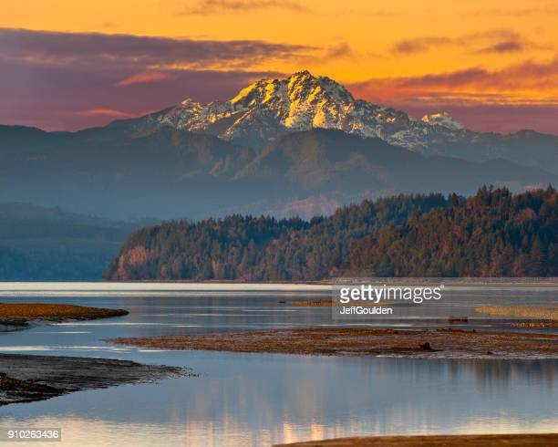 the brothers at sunset - washington state stock pictures, royalty-free photos & images
