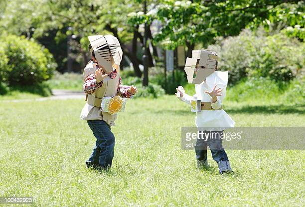 The brothers disguising themselves in park