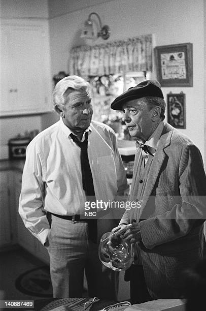 MATLOCK The Brothers Episode 8 Pictured Andy Griffith as Benjamin Matlock Don Knotts as Les Calhoun Photo by Paul Drinkwater/NBCU Photo Bank