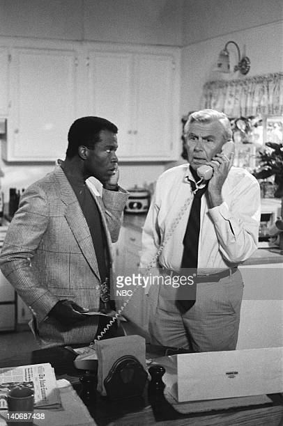 MATLOCK 'The Brothers' Episode 8 Pictured Clarence Gilyard Jr as Conrad McMasters Andy Griffith as Benjamin Matlock Photo by Paul Drinkwater/NBCU...