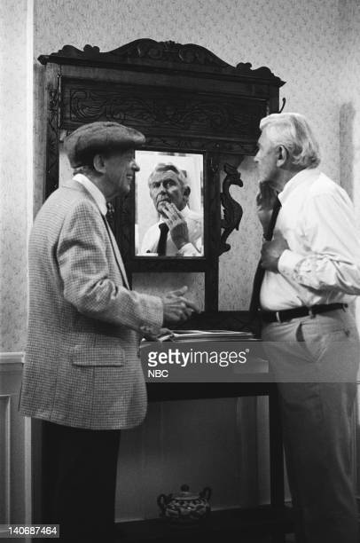 MATLOCK The Brothers Episode 8 Pictured Don Knotts as Les Calhoun Andy Griffith as Benjamin Matlock Photo by Paul Drinkwater/NBCU Photo Bank
