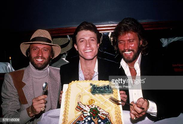 The Brothers Gibb of the Bee Gees circa 1982 in New York City