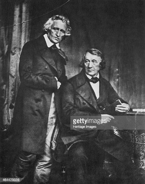 The Brothers Grimm German authors 1847 Wilhelm and Jakob Grimm famous for their fairy tales and work in linguistics From a private collection