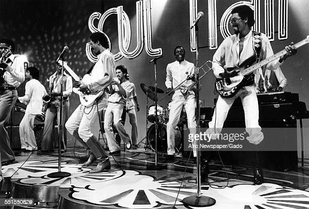 The Brothers Johnson an American funk and RB band consisting of American musicians and brothers George Lightnin Licks and Louis E Johnson Thunder...
