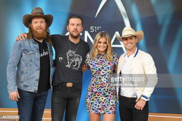 AMERICA The Brothers Osborne Lauren Alaina and Dustin Lynch announce the CMA Award nominations on Good Morning America Monday September 4 airing on...