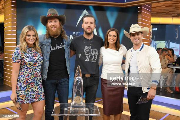 AMERICA The Brothers Osborne Lauren Alaina and Dustin Lynch announce the CMA Award nominations on 'Good Morning America' Monday September 4 airing on...