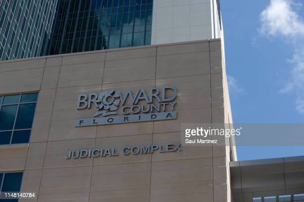 The Broward County Judicial Complex is seen where former Broward Sheriff's Deputy Scot Peterson will remain in prison after his first court...