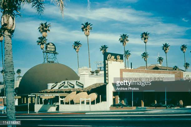 The Brown Derby restaurant on Wilshire Boulevard in Los Angeles California circa 1950