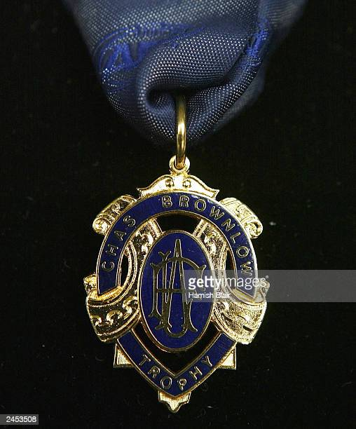 The Brownlow Medal awarded to the player judged best and fairest at the launch the 2003 AFL Finals Series at the Telstra Dome September 2, 2003 in...