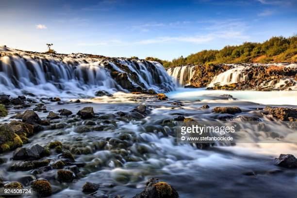 The Bruarfoss waterfall in Iceland.
