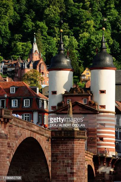 The Bruckentor, the gate of the Old Bridge, Heidelberg, Baden-Wurttemberg, Germany, 13th century.