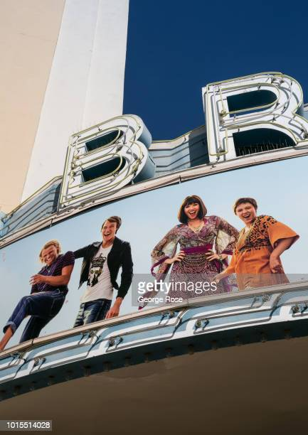 The Bruin Theater Westwood marquee is viewed in Westwood Village on August 7, 2018 in Los Angeles, California. Millions of tourists flock to the Los...