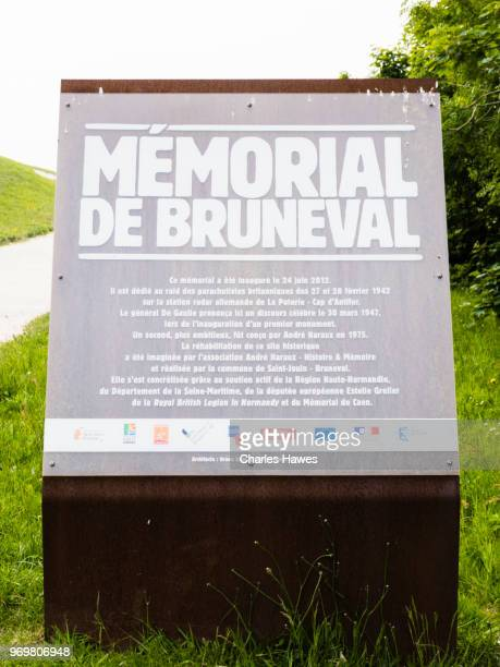 The Bruneval coast and  memorial, Normandy, France. May