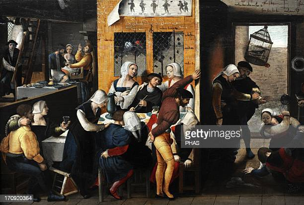 The Brunswick Monogrammist Anonymous Netherlandish painter active in the midtolate 16th century A dispute in a brothel 153540 Oil on canvas...