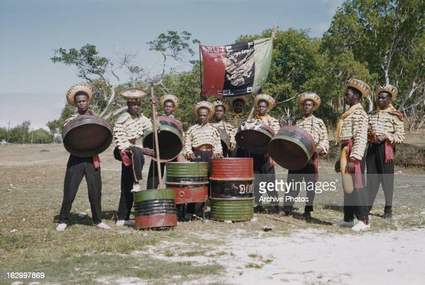 The Brute Force Steel Band from Antigua in the West Indies circa 1965