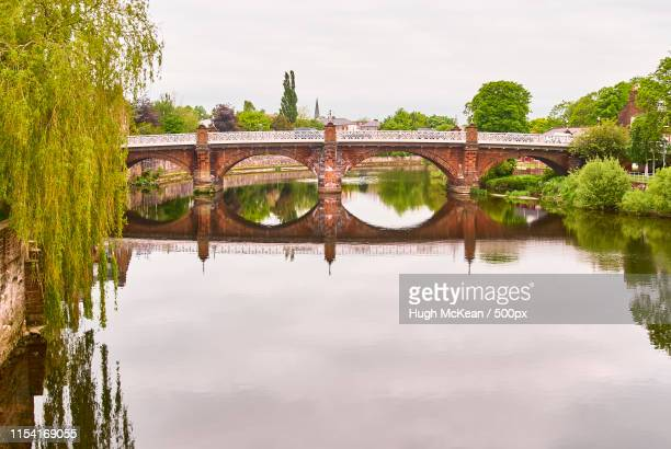 the buccleuch street bridge built inby architect thomas boyd, and widened a 4-span - dumfries stock pictures, royalty-free photos & images