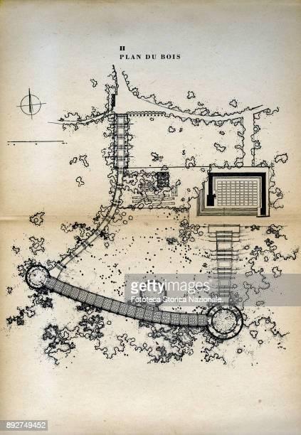The Buchenwald concentration camp transformed into a memorial museum Map of the park from the booklet 'Buchenwald lieu de Martire et de souvenir'...