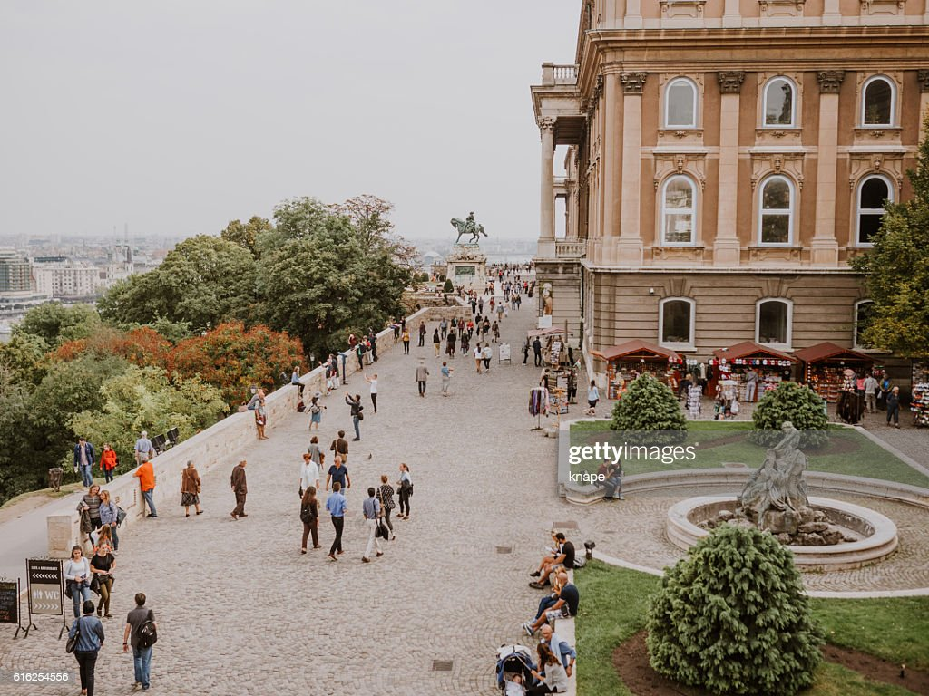 The Buda Castle and the Castle District in Hungary : Foto de stock