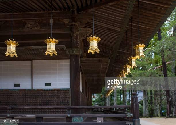 der buddhismus tempel danjo garan am berg koya, japan - koyasan stock-fotos und bilder