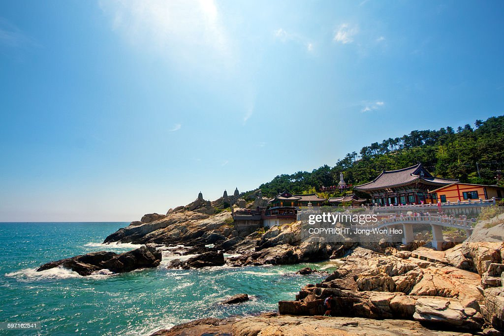 The Buddhist temple at the seaside : Stock Photo