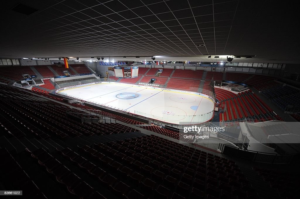 The Budvar Arena is seen before the IIHF Champions Hockey