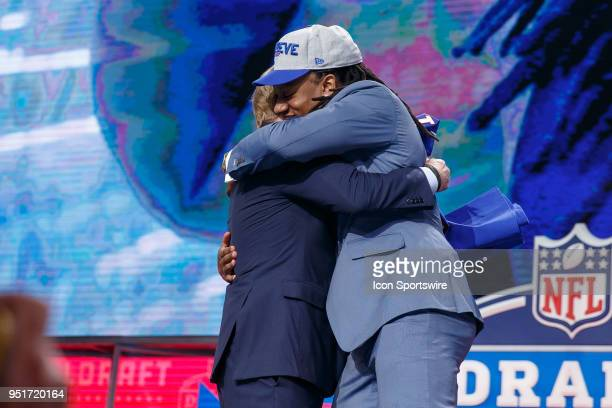 The Buffalo Bills select Virginia Tech Linebacker Tremaine Edmunds sixteenth overall during the first round of the NFL Draft on April 26, 2018 at...