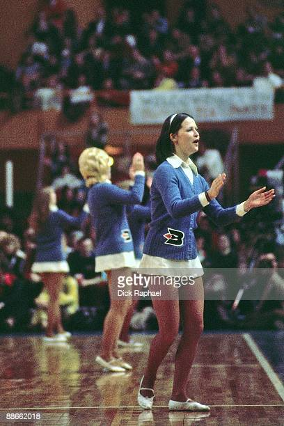 The Buffalo Braves cheerleaders cheer during a game played in 1974 at the Buffalo Memorial Auditorium in Buffalo New York NOTE TO USER User expressly...