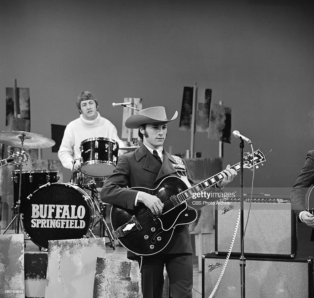 HOUR. The Buffalo Springfield, featuring Stephen Stills, with hat. Image dated February 17, 1967.