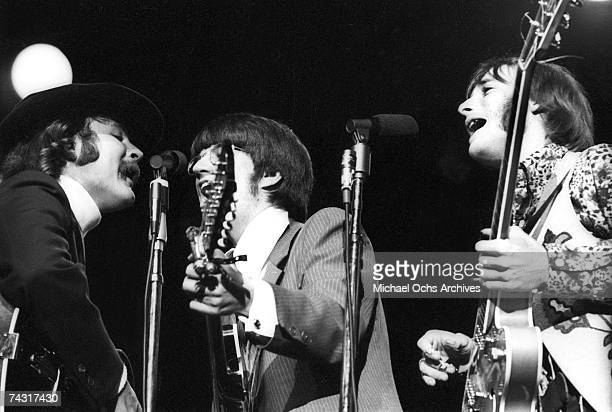 The Buffalo Springfield Performs on stage with David Crosby of The Byrds at the Monterey Pop Festival on June 18 1967 in Monterey California