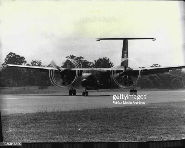 The Buffalo taking off at Camden airstripA DHC5 Buffalo Aircraft largest of the Turbine powered short takeof and landing transport aircraft built by...