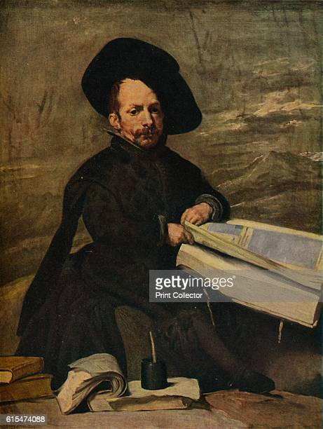The Buffoon with books' c1644 The painting is held at the Museo del Prado Madrid From Les ChefsD'Ouevre Du Musée Du Prado [Les Éditions Holbein...